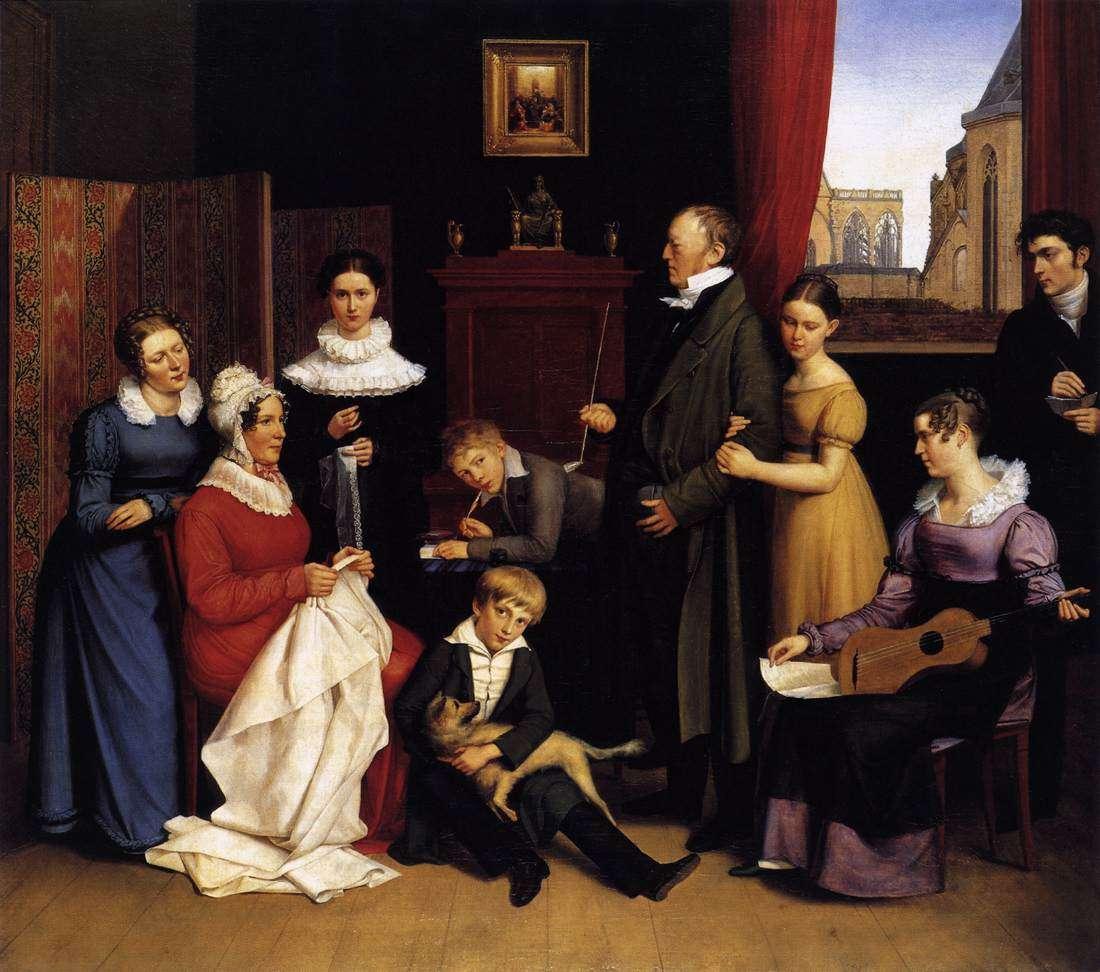 Καρλ Γιόζεφ Μπέγκας ή Μπεγκάσσε (γερμ. Carl Joseph Begas ή Begasse). Οικογενειακό πορτραίτο, 1821, Κολωνία, Wallraf-Richartz-Museum.