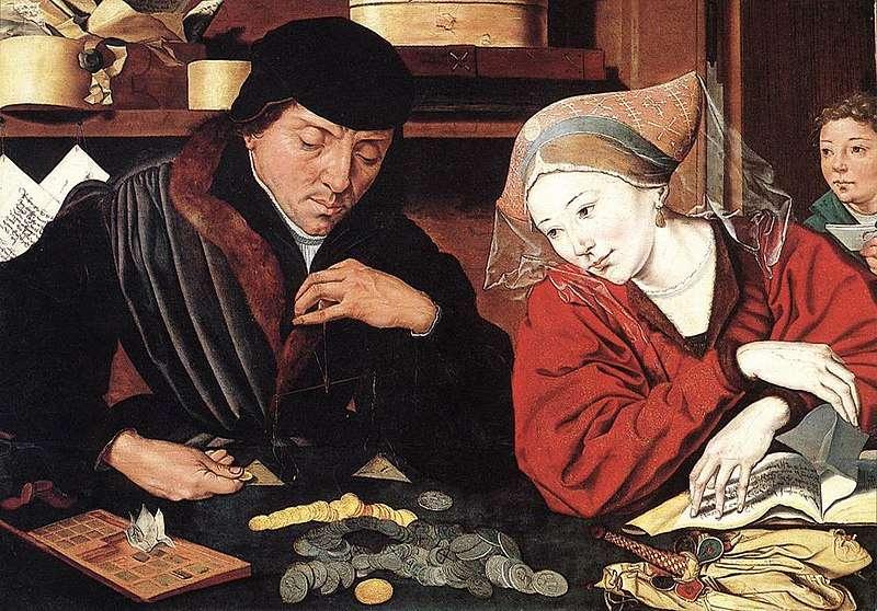 Ο τραπεζίτης και η σύζυγός του. The Banker and His Wife (XVIth c). Marinus van Reymerswaele (c.1490–c.1546). Musée des Beaux-Arts (Valenciennes).