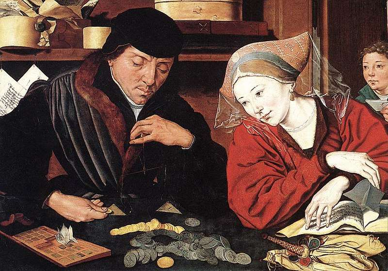 Ο τραπεζίτης και η σύζυγός του. The Banker and His Wife (XVIth c). Marinus van Reymerswaele (c.1490–c.1546). Musée des Beaux-Arts (Valenciennes).
