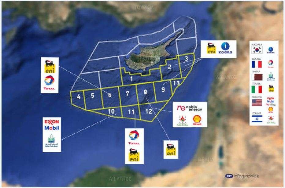 Αν και η Γαλλία δεν είναι ΗΠΑ, το ίδιο πρόβλημα έχει ο Ερντογάν και με την Total, η οποία έχει κι αυτή δικαιώματα εκμετάλλευσης σε θαλάσσια οικόπεδα της κυπριακής ΑΟΖ.