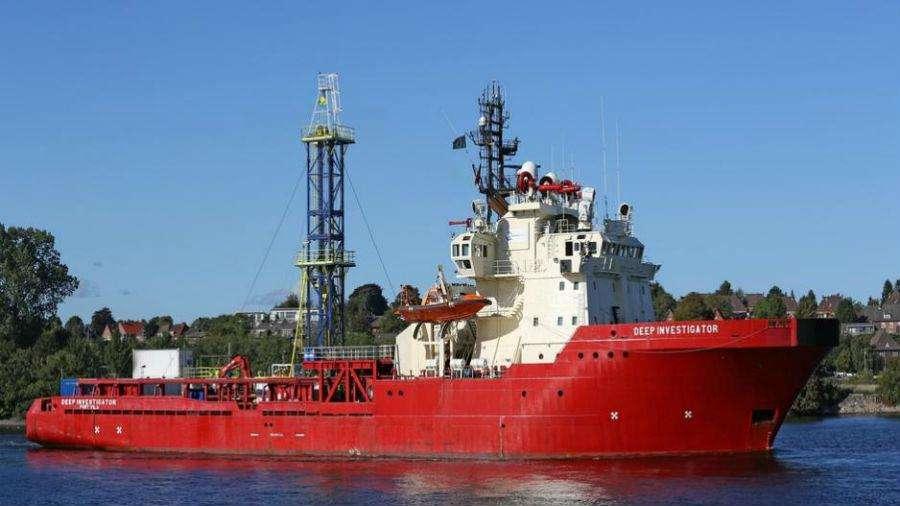 Το Ocean Investigator, το πρώτο από τα δύο σκάφη της ExxonMobil  που θα διενεργήσουν αρχαιολογικές και περιβαλλοντικές έρευνες στο τεμάχιο 10 της της Κυπριακής ΑΟΖ