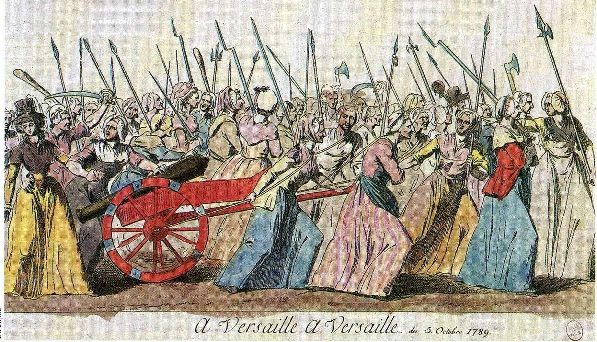 Οι γυναίκες του Παρισιού εναντίον των Βερσαλλιών.