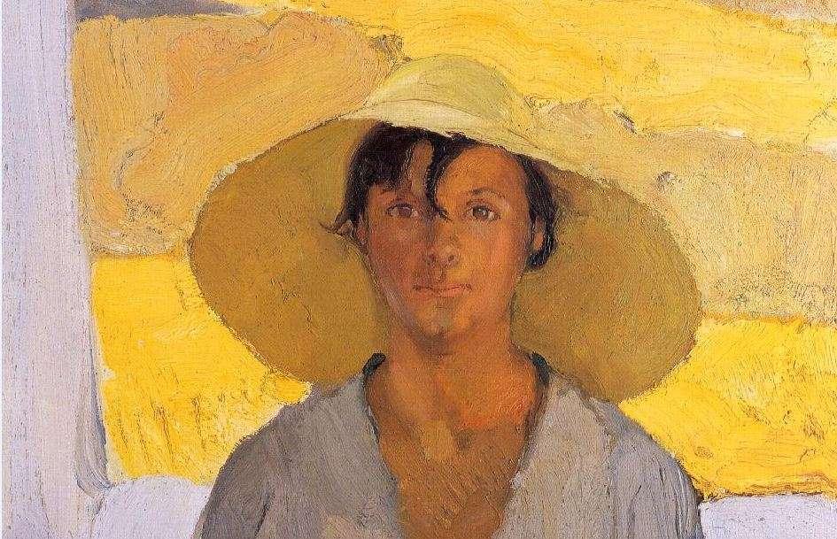 Το Ψάθινο Καπέλο, ελαιογραφία του Νικολάου Λύτρα (1925)