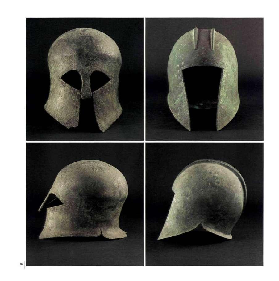 Αρχαία ελληνικά κράνη. Μουσείο Μπενάκη. Αθήνα. Ancient Greek Helmets. Benaki Museum. Athena.