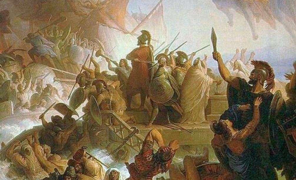 Η Ναυμαχία στη Σαλαμίνα (Die Seeschlacht bei Salamis), του Γερμανού Βίλχελμ φον Κάουλμπαχ