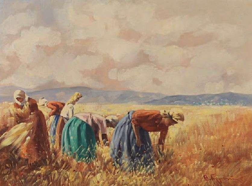 Βάσος Γερμενής (1896 – 1966). Θερισμός.