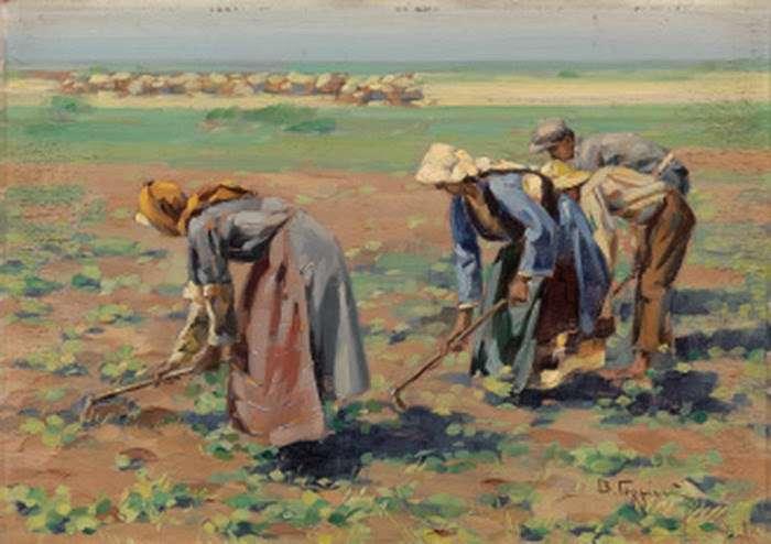 Βάσος Γερμενής (1896 – 1966). Στο χωράφι.