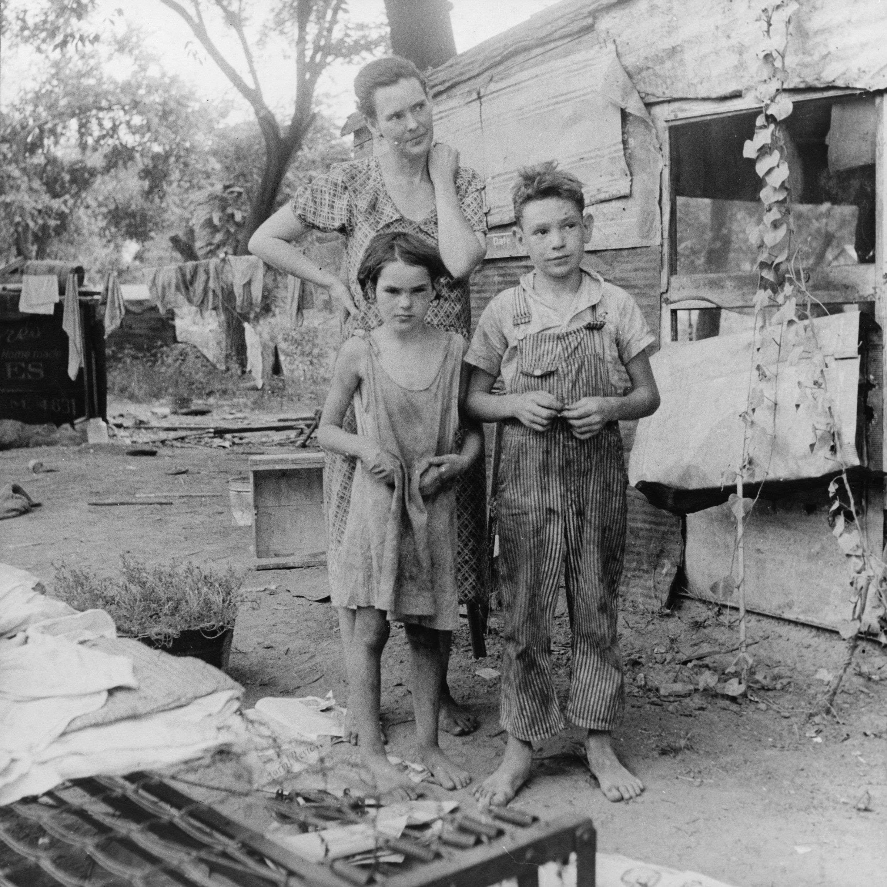 Εξαθλιωμένη αμερικανική οικογένεια, 1936.