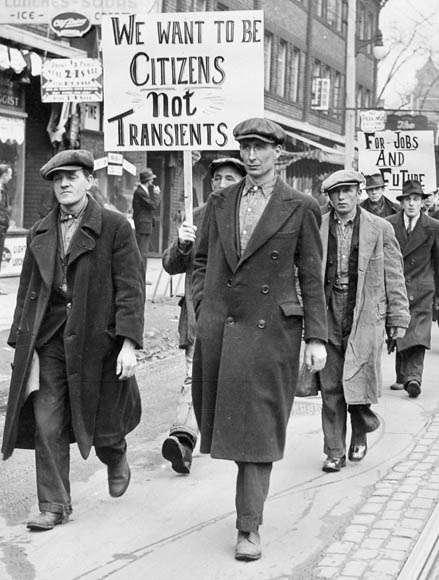 Διαδήλωση ανέργων στο Τορόντο του Οντάριο, στον Καναδά