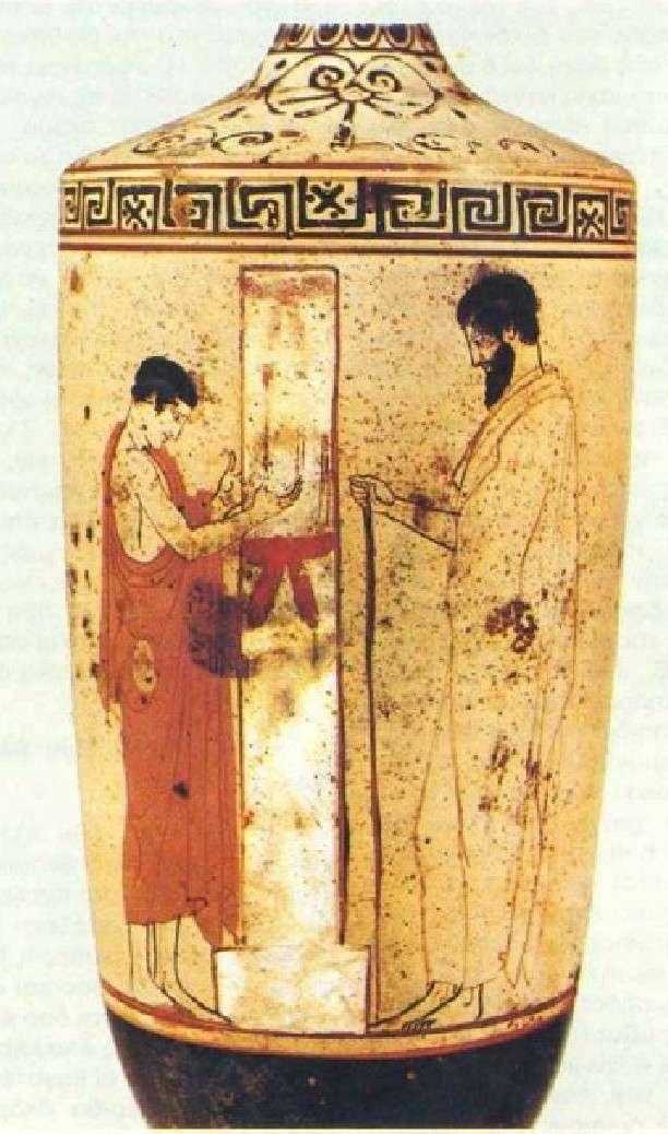 Αττική λευκή λήκυθος. 470-460 π.Χ.