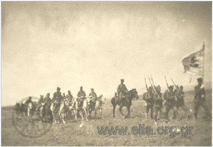 Παρέλαση ελληνικών στρατευμάτων στο μέτωπο. Μικρά Ασία. 1919-1920.