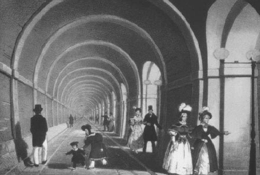 Το τσιμεντένιο τούνελ του Τάμεση ήταν η πρώτη υποθαλάσσια σήραγγα παγκοσμίως και άνοιξε για το κοινό το 1843
