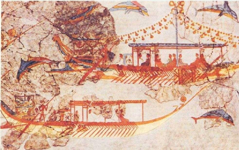 Τοιχογραφία της Θήρας. Mural of Thera.