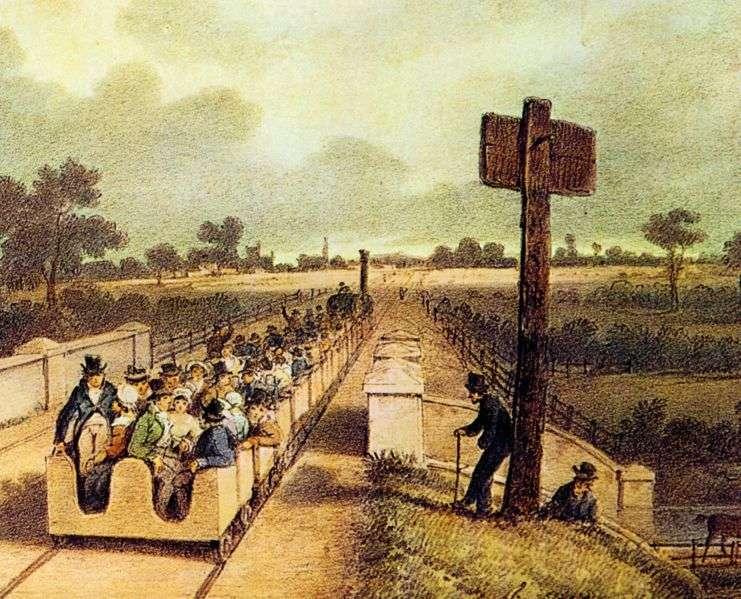 Η αμαξοστοιχία μεταξύ Λίβερπουλ και Μάντσεστερ το 1830, ήταν η πρώτη σιδηροδρομική σύνδεση μεταξύ πόλεων παγκοσμίως