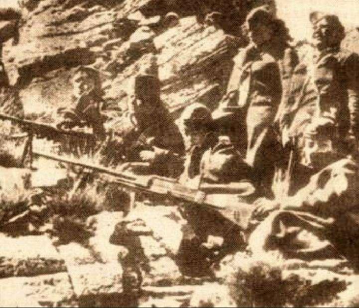 Αντάρτες του ΔΣΕ στον Γράμμο.