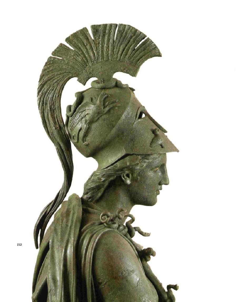 Η θεά Αθηνά από το εύρημα των χαλκών του Πειραιώς. 4ος αιώνας π.Χ. Αρχαιολογικό Μουσείο Πειραιώς. The goddess Athena from the discovery of the copper of Piraeus. 4th century BC Archaeological Museum of Piraeus.