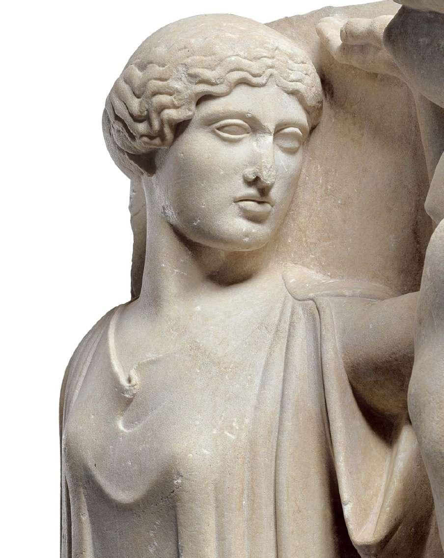 Η θεά Αθηνά. Ναός του Δία στην Ολυμπία (χτίστηκε μεταξύ 472 και 456 π.Χ.) Αρχαιολογικό Μουσείο Ολυμπίας. Godess Athena. Temple of Zeus in Olympia (built between 472 and 456 BC) Archaeological Museum of Olympia.