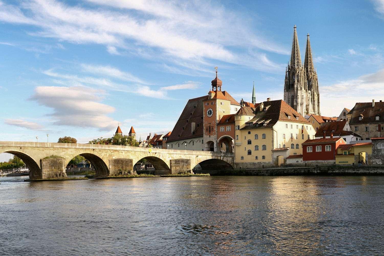 Ο Δούναβης στο Ρέγκενσμπουργκ
