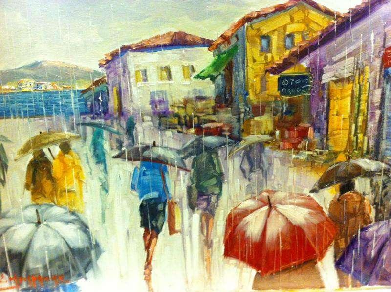 Σταύρος Μπουράνης. Βόλτα στη βροχή