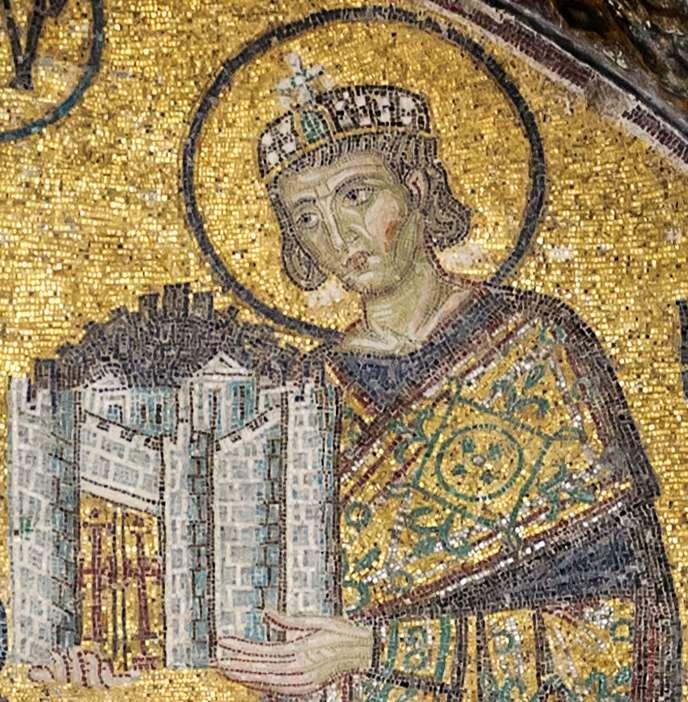 Ο Μέγας Κωνσταντίνος, μωσαϊκό στην Αγία Σοφία (Κωνσταντινούπολη)