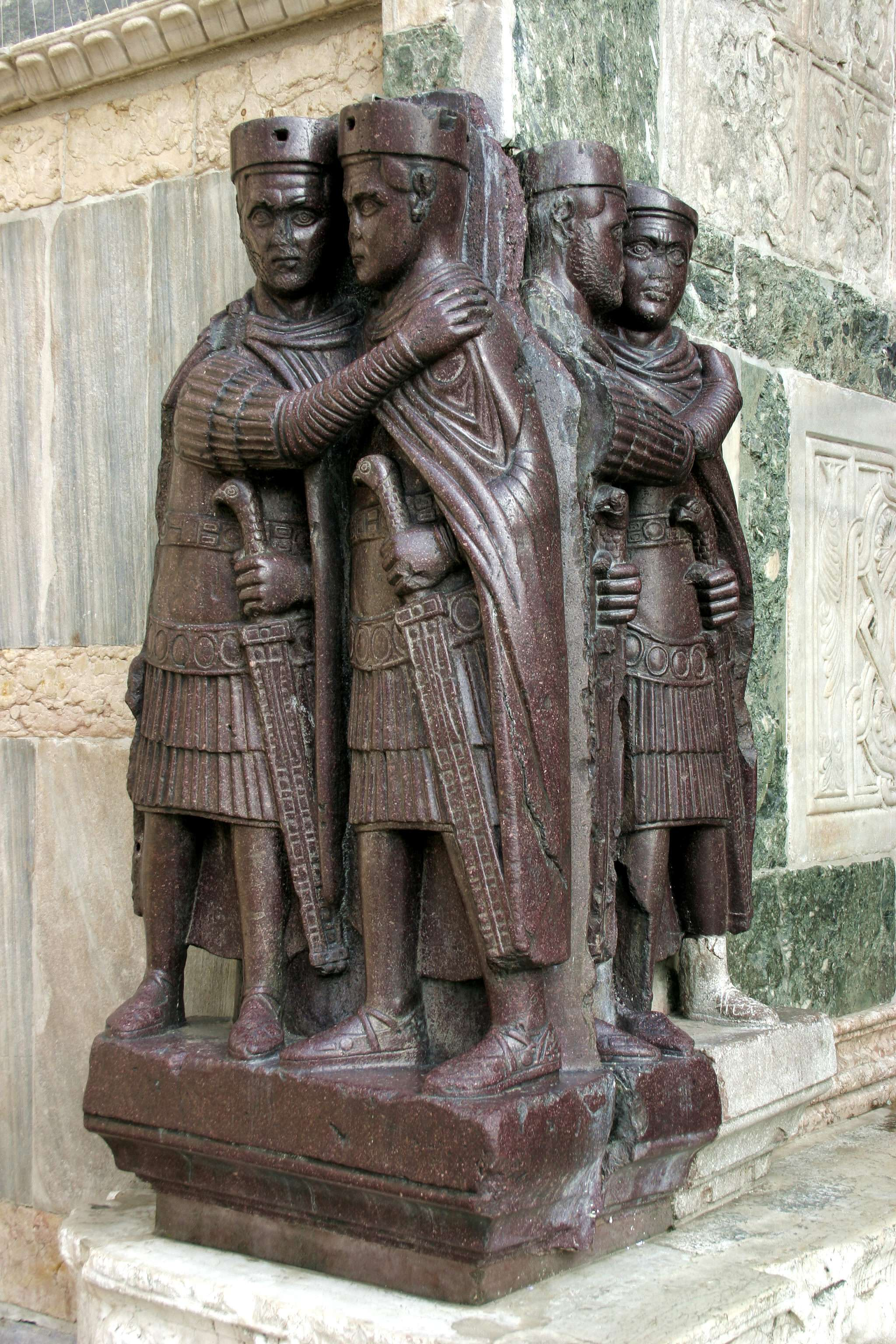 Οι αυτοκράτορες της τετραρχίας: Διοκλητιανός, Μαξιμιανός, Κωνστάντιος Α΄ Χλωρός και Γαλέριος (Βενετία)