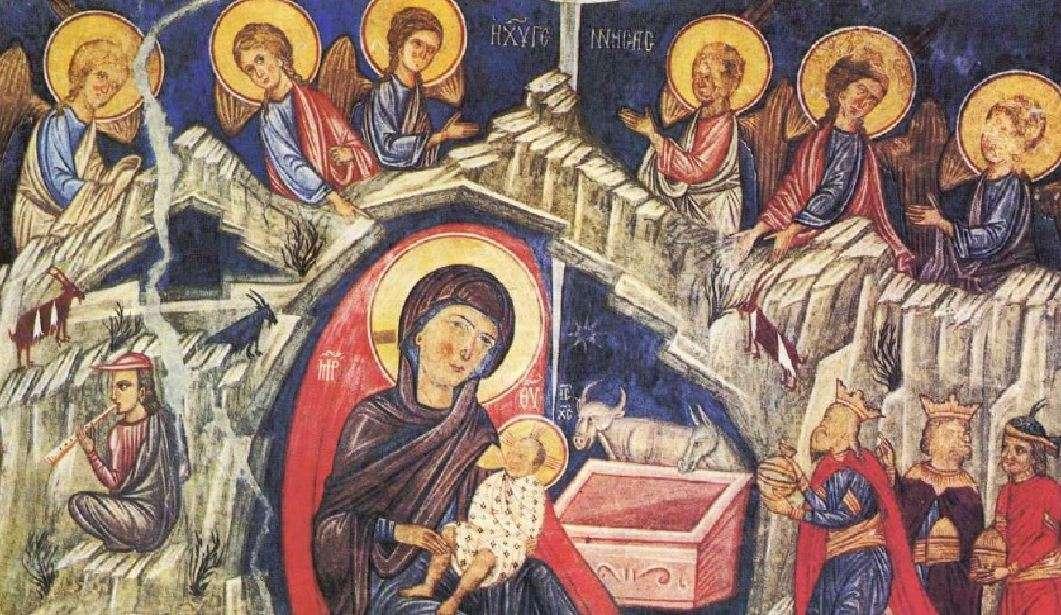 Γέννηση του Χριστού (14ος αιώνας). Άγιος Νικόλαος της Στέγης. Κακοπετριά-Κύπρος.