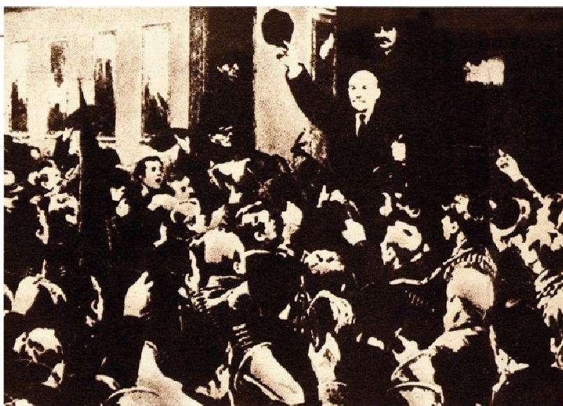 Ο Λένιν επιστρέφει από τη Ζυρίχη στην επαναστατημένη Ρωσία. 3 Απριλίου 1917.
