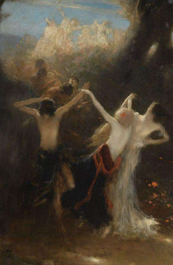 Νικόλαος Γύζης. Ο χορός των νυμφών