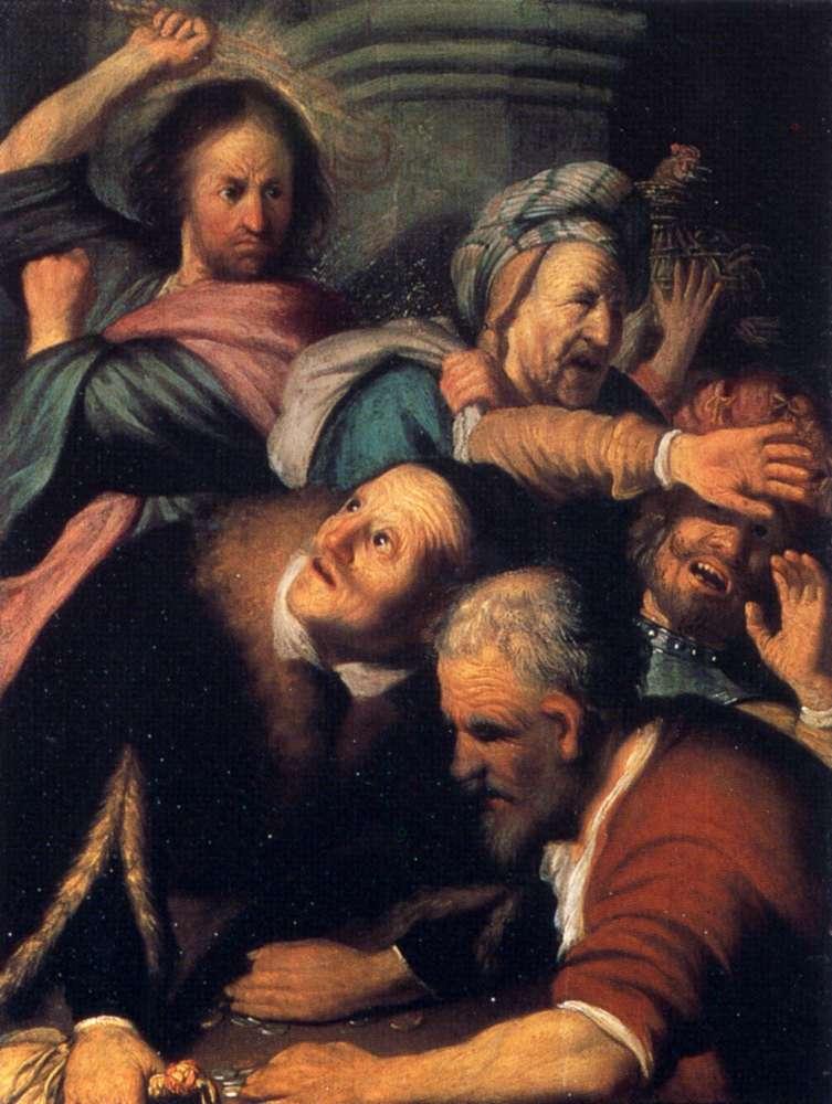Ρέμπραντ Χάρμενσοον φαν Ράιν: Η εκδίωξη των εμπόρων από τον Ναό, 1626.