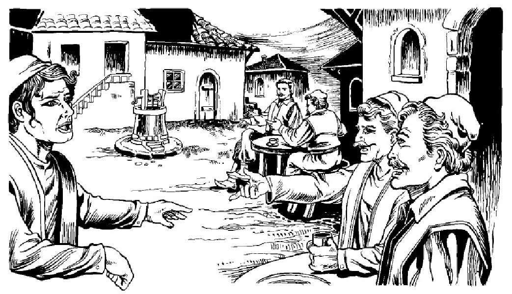 Εἶχε φίλους τόσον ὀλίγους καὶ τόσον ἀμετρήτους ἐχθρούς, εἰς μέρος τόσον ὀλιγάνθρωπον! Κάποτε φιλάνθρωπος ἢ διακριτικός τις τὸν ὑπερήσπιζεν ἐναντίον τῆς ἐπιθέσεως τῶν ἀγυιοπαίδων. Εἰς ἐκεῖνον ἐγίνετο σκλάβος ἰσόβιος, κ᾽ ἐξετέλει δι᾽ αὐτὸν διακονήματα προθύμως, μετὰ βίας δεχόμενος φίλευμα ἢ κέρασμα. Πρὸς ὅλους τοὺς ἄλλους δὲν ὑπῆρχε φιλία οὔτε σπονδή.