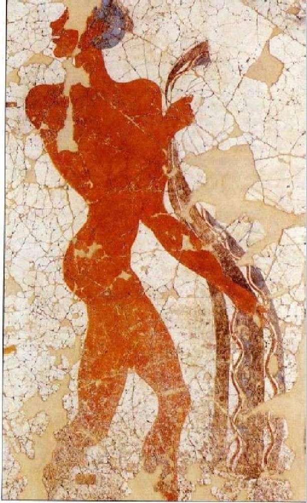 Νεαρό αγόρι από την «Τοιχογραφία των αγοριών». Ακρωτήρι Θήρας. Β' μισό 16ου αιώνα.