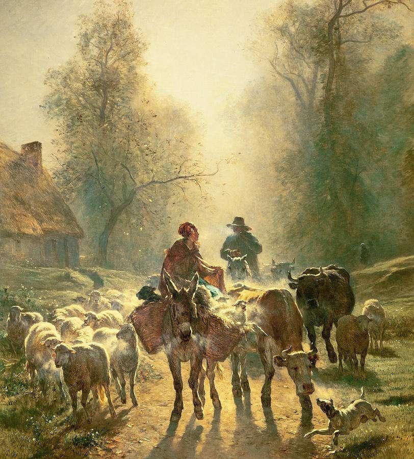 Γάιδαρος σε πίνακα του Émile Constant.