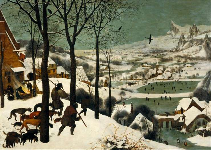 Πίτερ Μπρίγκελ ο Πρεσβύτερος, οι κυνηγοί στο χιόνι, 1565