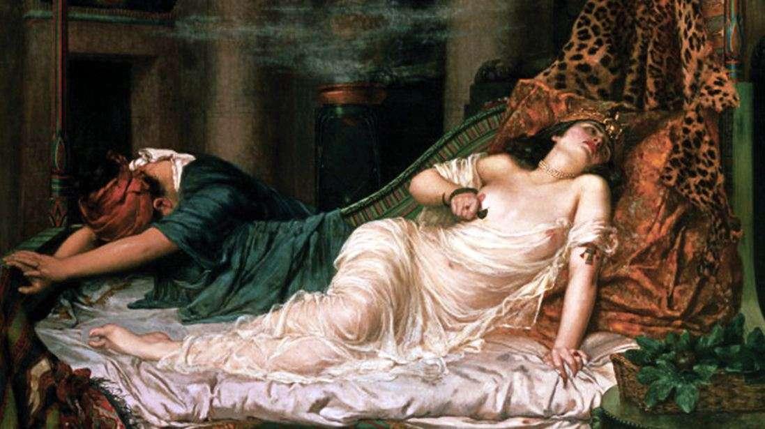 Ο θάνατος της Κλεοπάτρας, πίνακας του Ρέτζιναλντ Άρθουρ, 1892