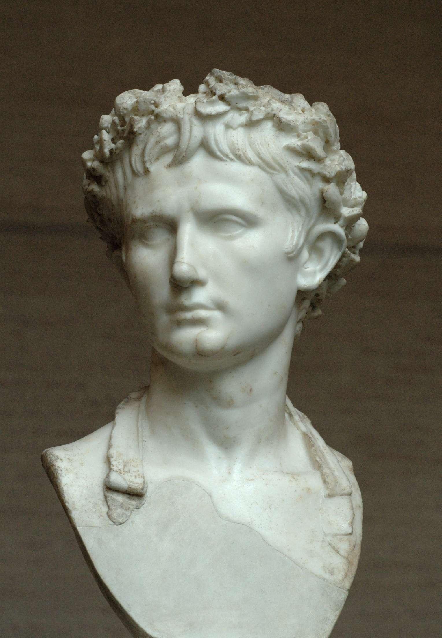 Προτομή του πρώτου Ρωμαίου αυτοκράτορα, Οκταβιανού Αυγούστου, Γλυπτοθήκη του Μονάχου, Γερμανία.