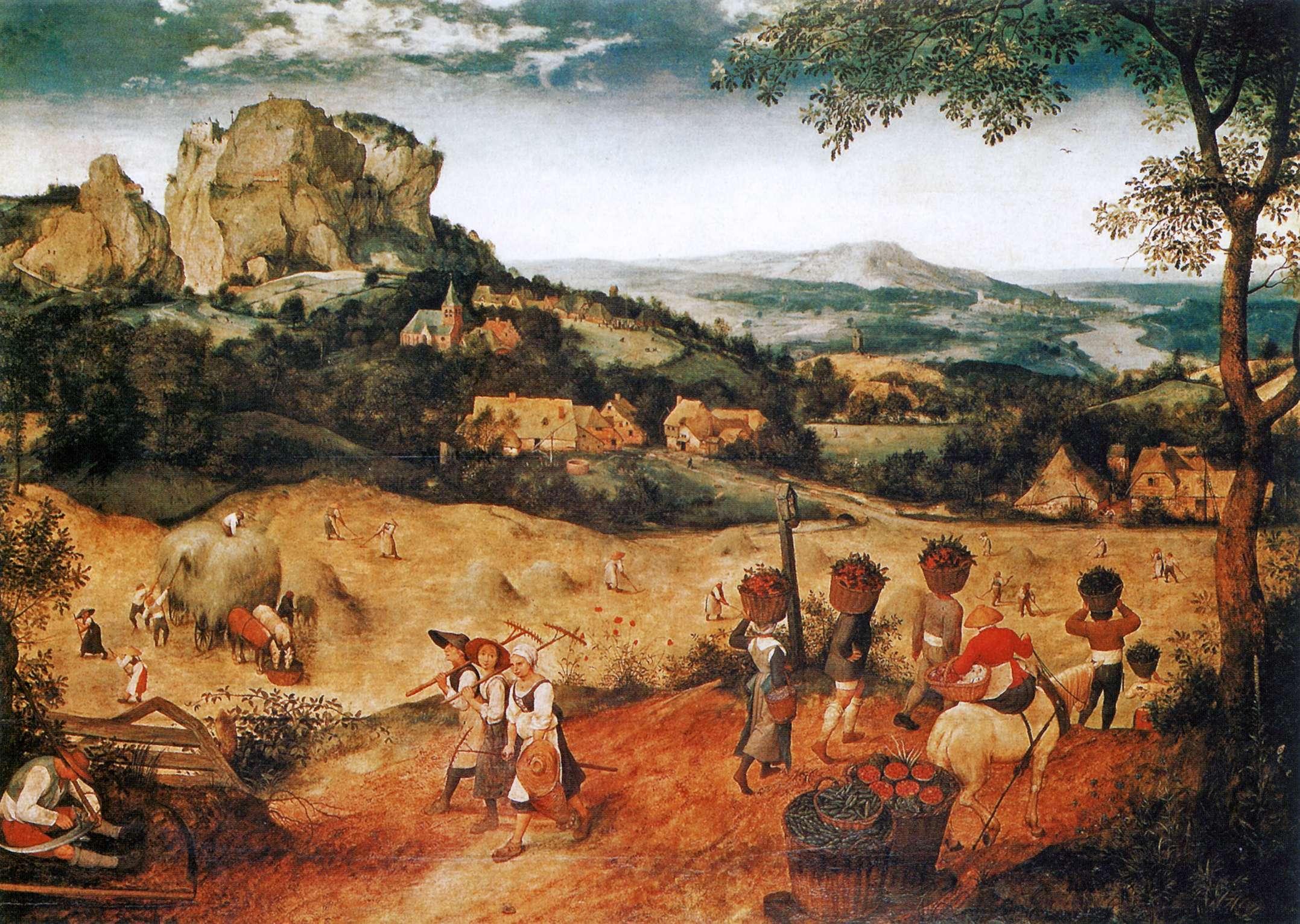 «Οι θεριστές» («Ιούλιος») Ο Πίτερ Μπρίγκελ ή Μπρέγκελ ο πρεσβύτερος (περ. 1525-1530 - Βρυξέλλες, 1569) ήταν Φλαμανδός ζωγράφος, σχεδιαστής και χαράκτης γνωστός για τα τοπία του και τις αγροτικές σκηνές.
