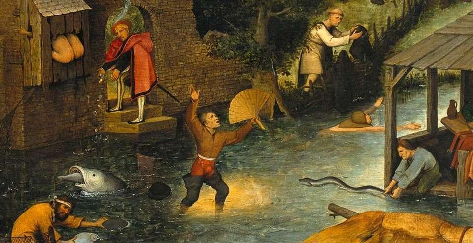 Παροιμίες των Κάτω Χωρών (λεπτομέρεια). Πίτερ Μπρίγκελ ο πρεσβύτερος. (1525 με 1530 - 1569).