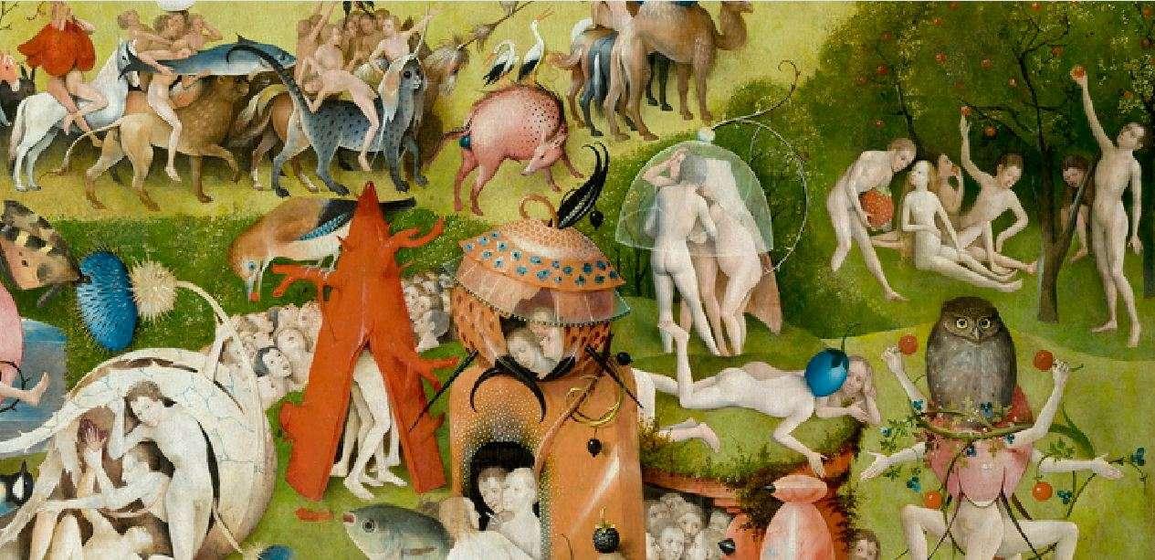 Ιερώνυμος Μπος. Ο κήπος των επίγειων απολαύσεων (λεπτομέρεια). Μουσείο Πράδο, Μαδρίτη.