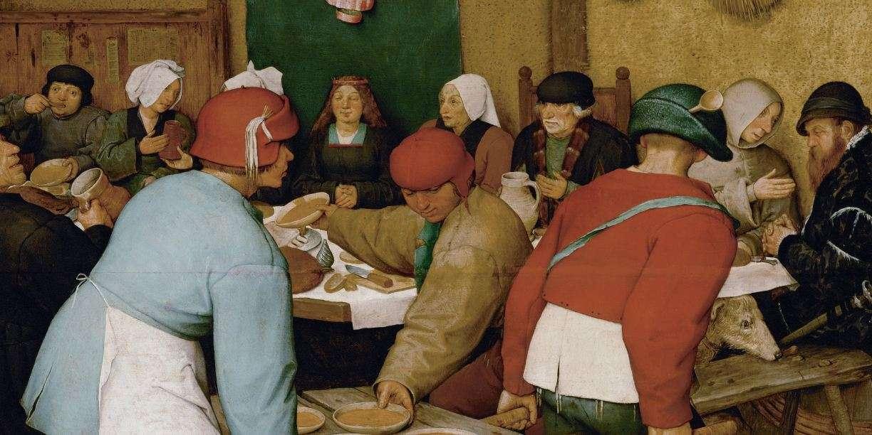 Πίτερ Μπρίγκελ ο πρεσβύτερος. (1525 με 1530 - 1569). Γάμος χωρικών (λεπτομέρεια).1568.
