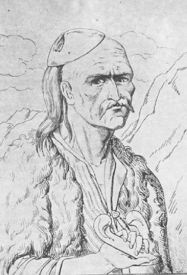 Ο Θεόδωρος Κολοκοτρώνης σε απεικόνιση του Voutier.