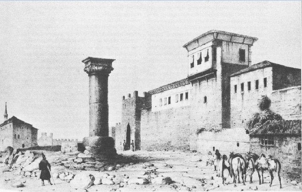Η Μεθώνη στα χρόνια της Επανάστασης του 1821. Τμήμα του φρουριακού συγκροτήματος.