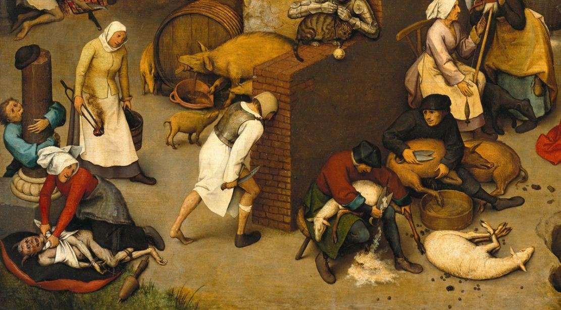 Φωτογραφία: Παροιμίες των Κάτω Χωρών (λεπτομέρεια). Πίτερ Μπρίγκελ ο πρεσβύτερος. (1525 με 1530 - 1569).