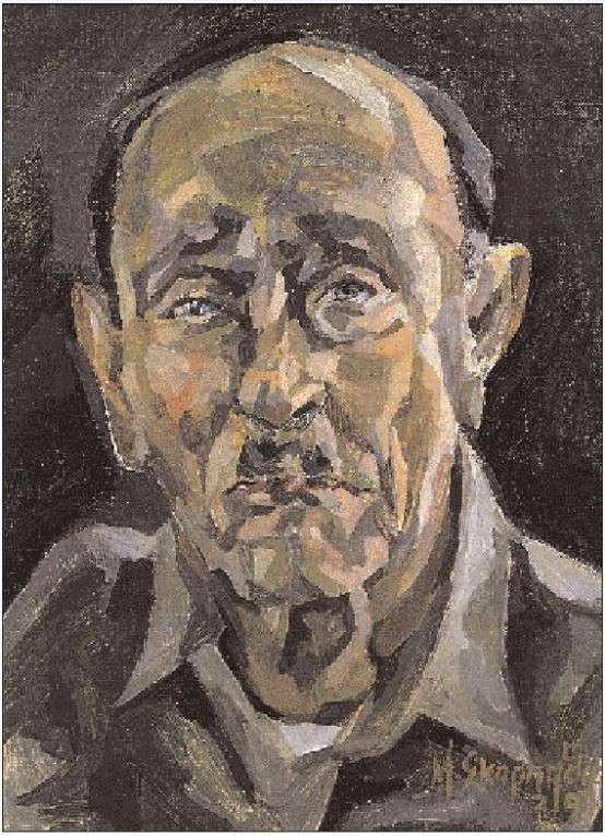 Γιάννης Σκαρίμπας. Πορτραίτο φιλοτεχνημένο από τη Mαργαρίτα Σκαρπαθίου, για το περιοδικό «Περίπλους».