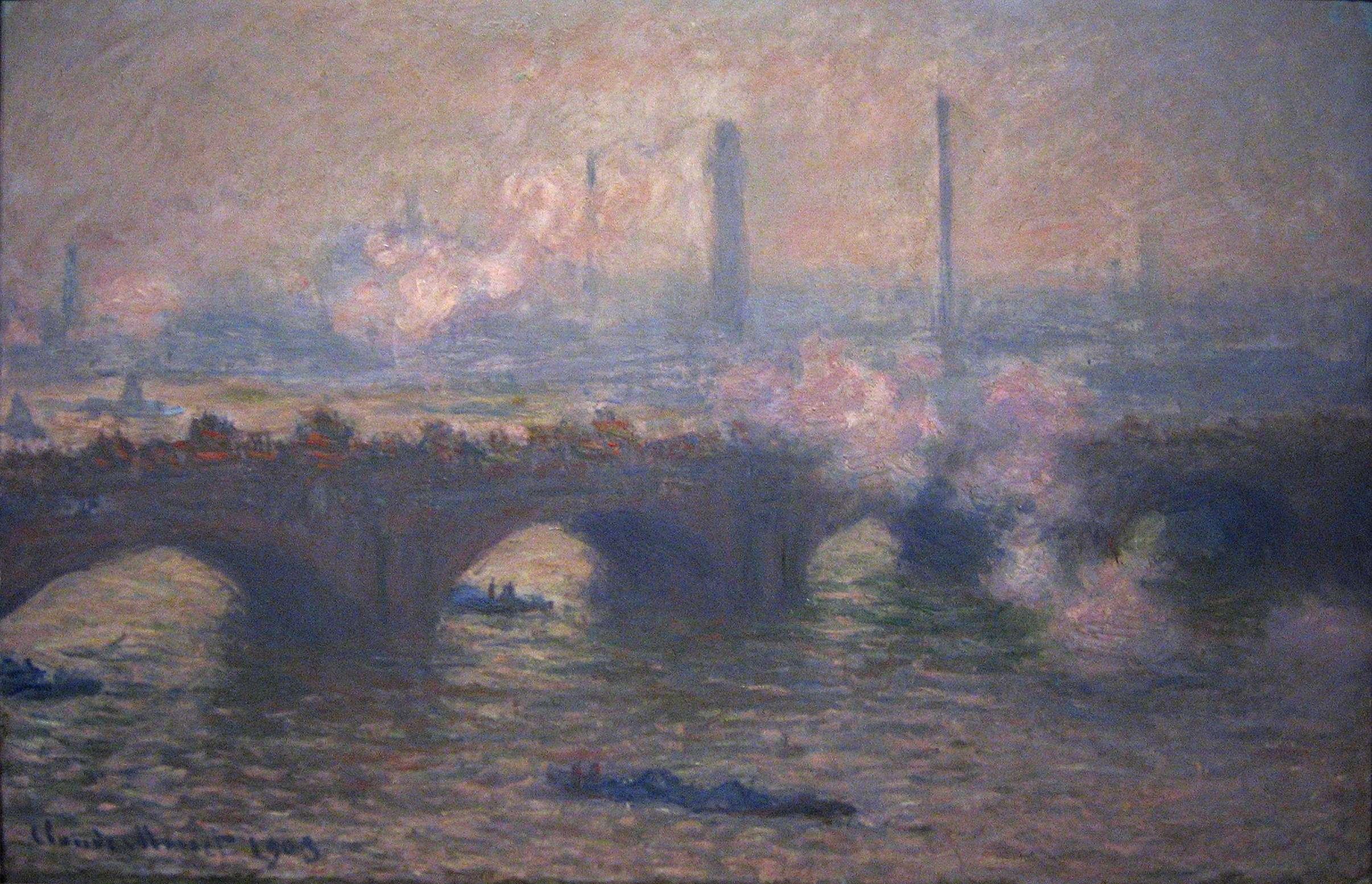 Κλοντ Μονέ. Η Γέφυρα του Βατερλώ, γκρίζα μέρα, 1903, Ουάσινγκτον, National Gallery of Art.
