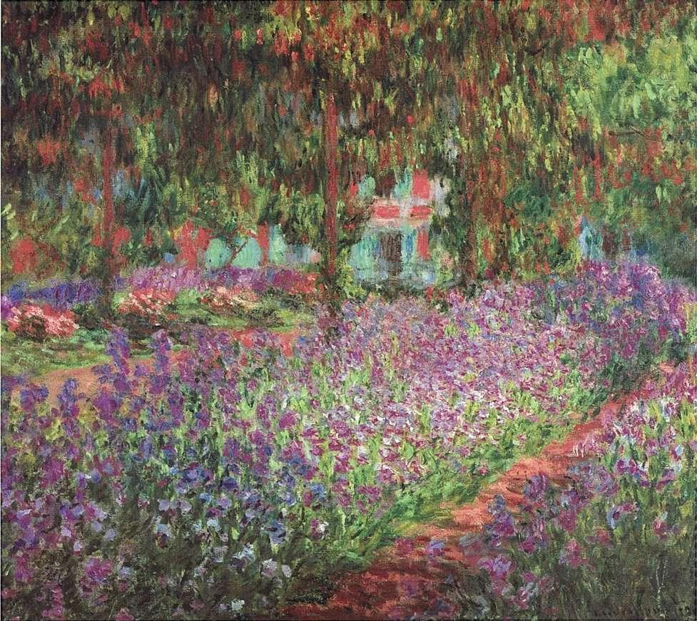 Κλοντ Μονέ. Ο κήπος του καλλιτέχνη στο Giverny, 1900, Παρίσι, Μουσείο Ορσέ.