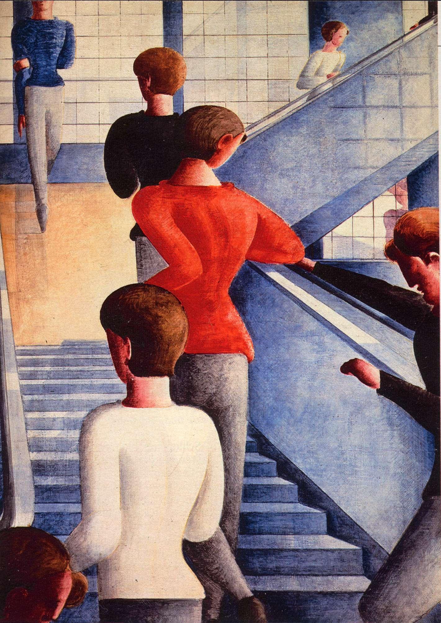 Όσκαρ Σλέμερ. Bauhaustreppe (1932). Μουσείο Μοντέρνας Τέχνης, Νέα Υόρκη.