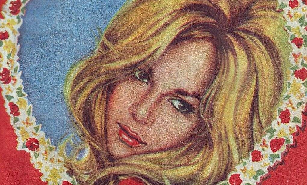 Περιοδικό ΡΟΜΑΝΤΣΟ, τεύχος 1052, 30 Απριλίου 1963. Εξώφυλλο με την Αλίκη Βουγιουκλάκη