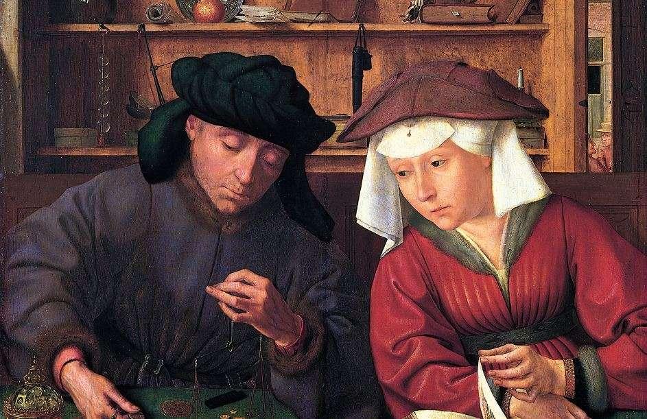 Κουέντιν Μασσάις. «Ο Αργυραμοιβός και η Σύζυγός του» (1514). Μουσείο του Λούβρου, Παρίσι, Γαλλία.