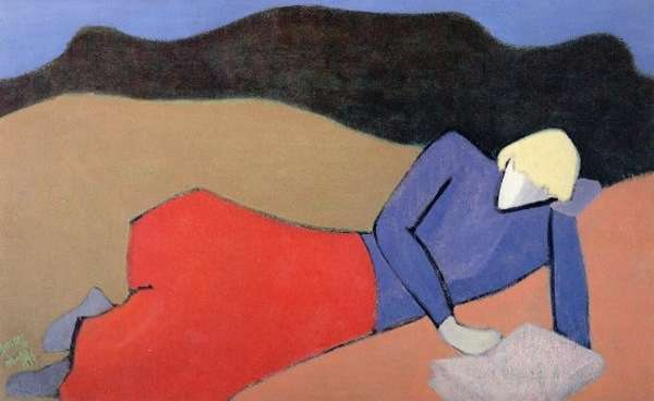 Milton Avery. Reclining Reader. 1950