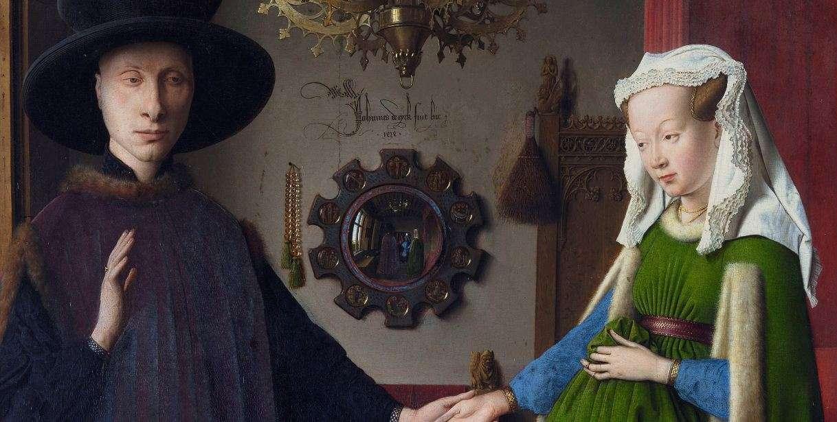 Ο Γάμος των Αρνολφίνι. Γιαν βαν Άικ. (λεπτομέρεια).
